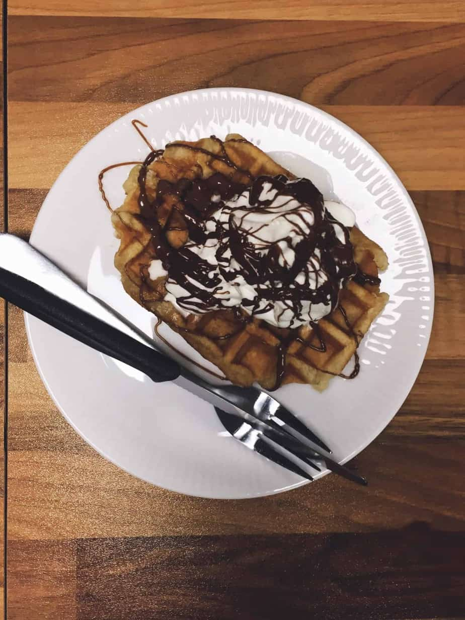 Waffle dessert in Tórshavn Old Town
