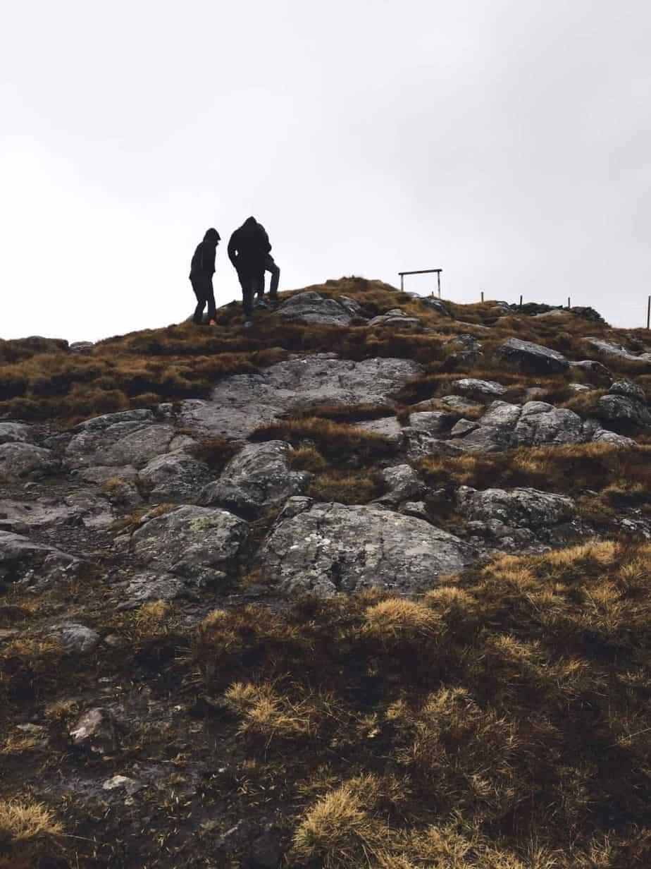 Hiking Klakkur near Klaksvik