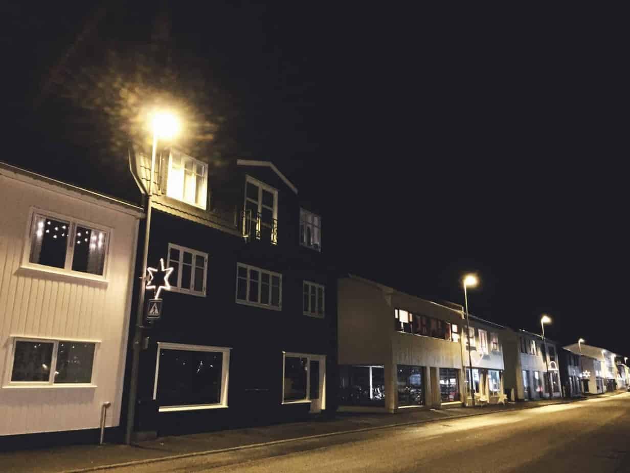 Klaksvik at night