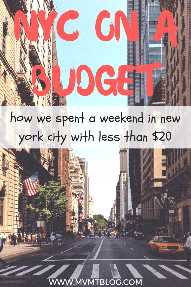 How I Traveled to NYC for a Weekend with $20 USD