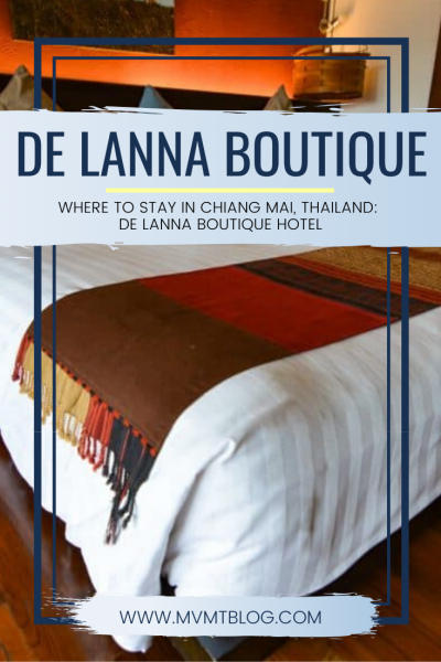 Where to Stay in Chiang Mai: De Lanna Boutique Hotel
