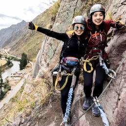 Climbing Via Ferrata In the Sacred Valley With Skylodge Adventure Suites