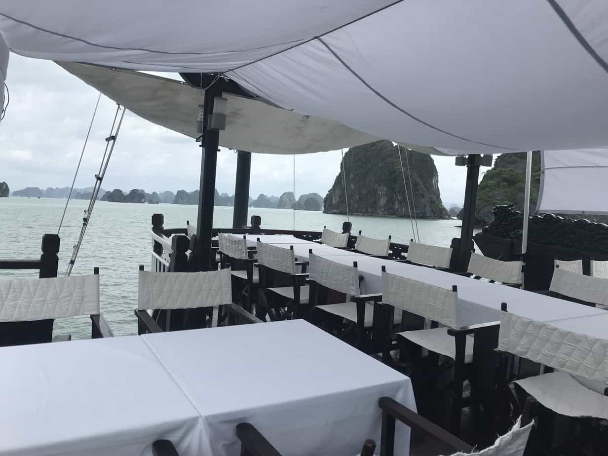 Dining area on Ha Long Bay cruise | MVMT Blog