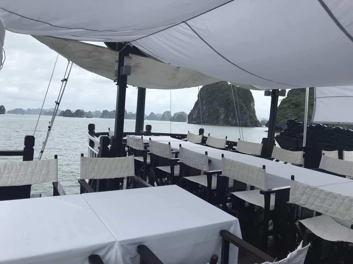 Dining area on Ha Long Bay cruise   MVMT Blog