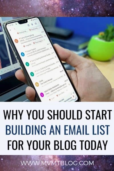 Five Reasons Why You Should Start Building An Email List For Your Blog Today
