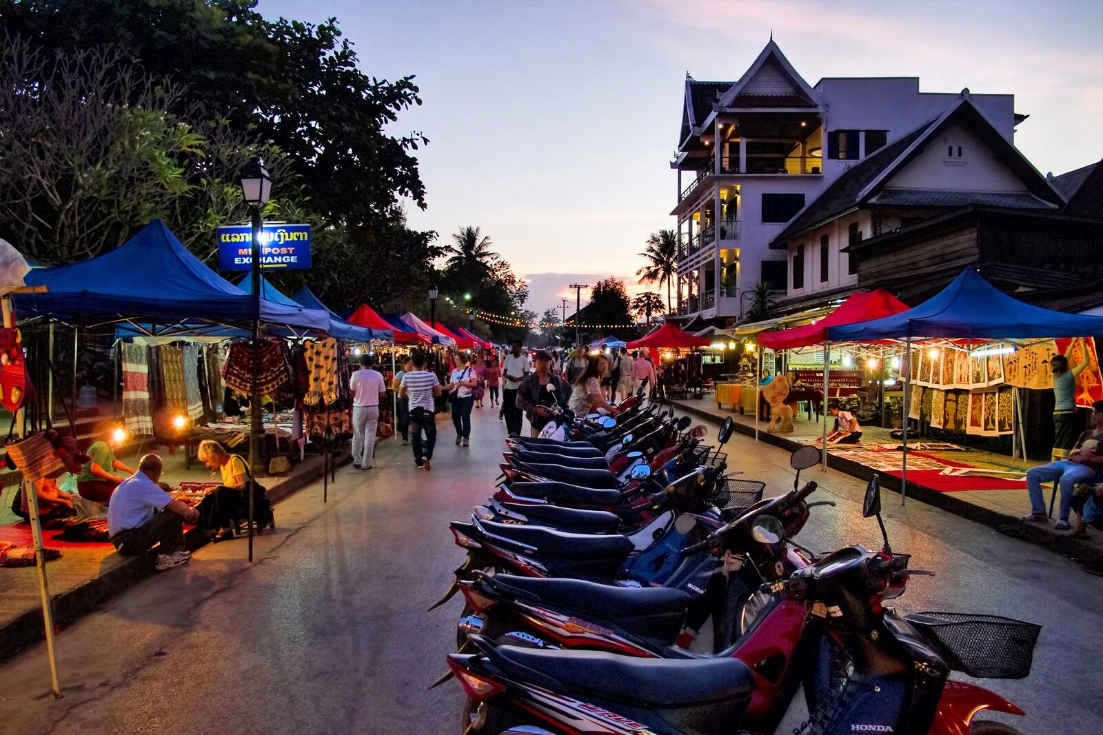 Luang Prabang Night Market - 24 Hours in Luang Prabang