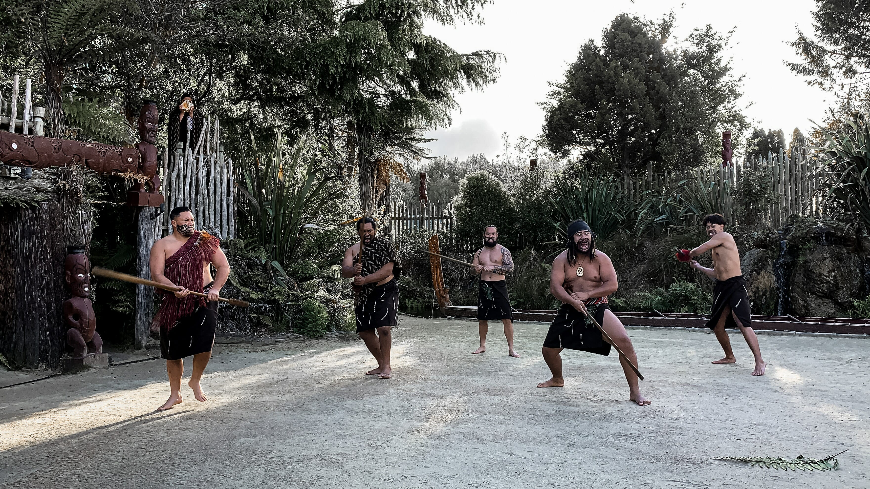 Tamaki Maori Village welcome dance