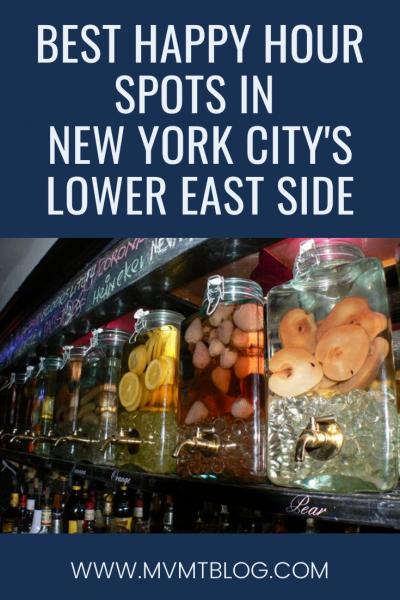 Best Happy Hour Spots in NYC's Lower East Side