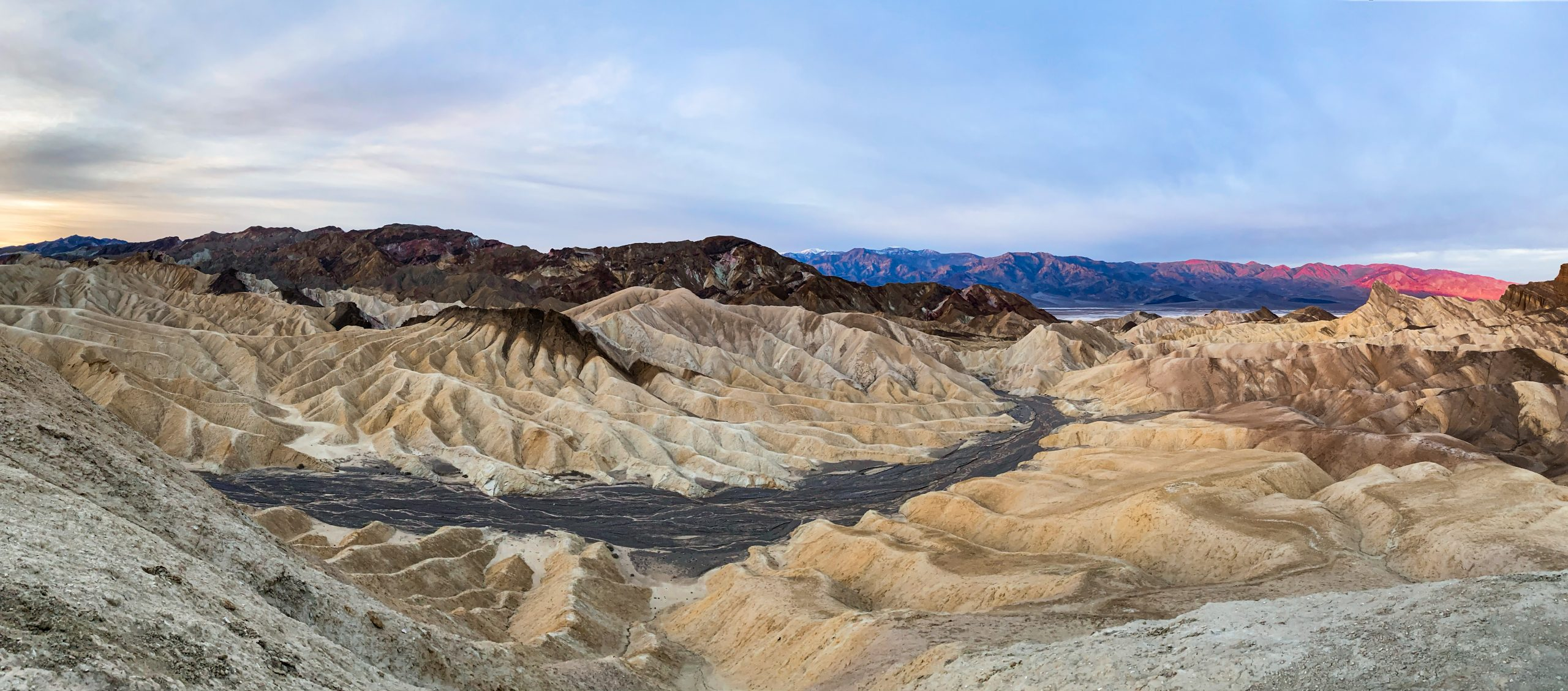 Zabriskie Point at sunrise - Death Valley National Park