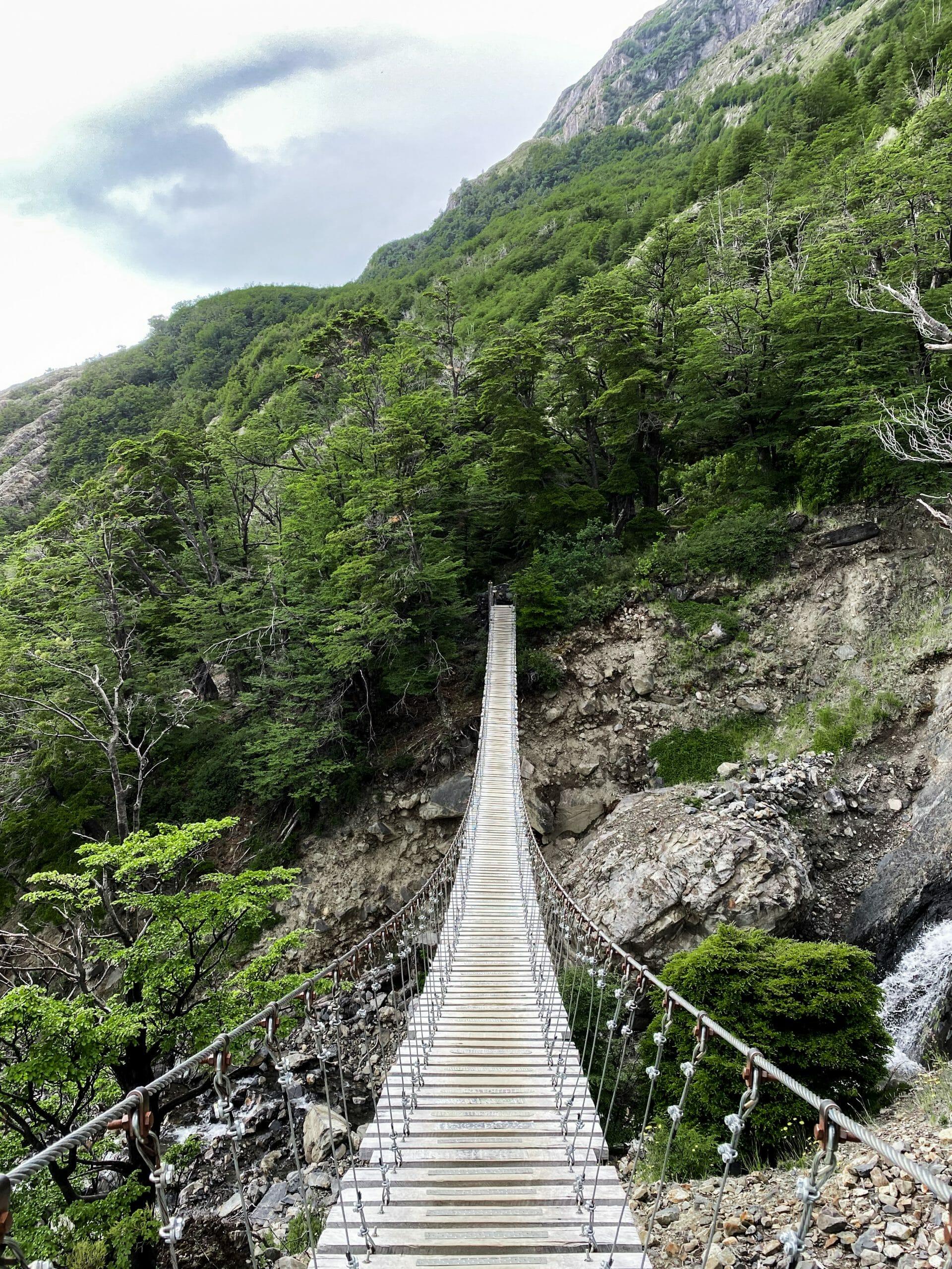 Suspension bridge at Grey
