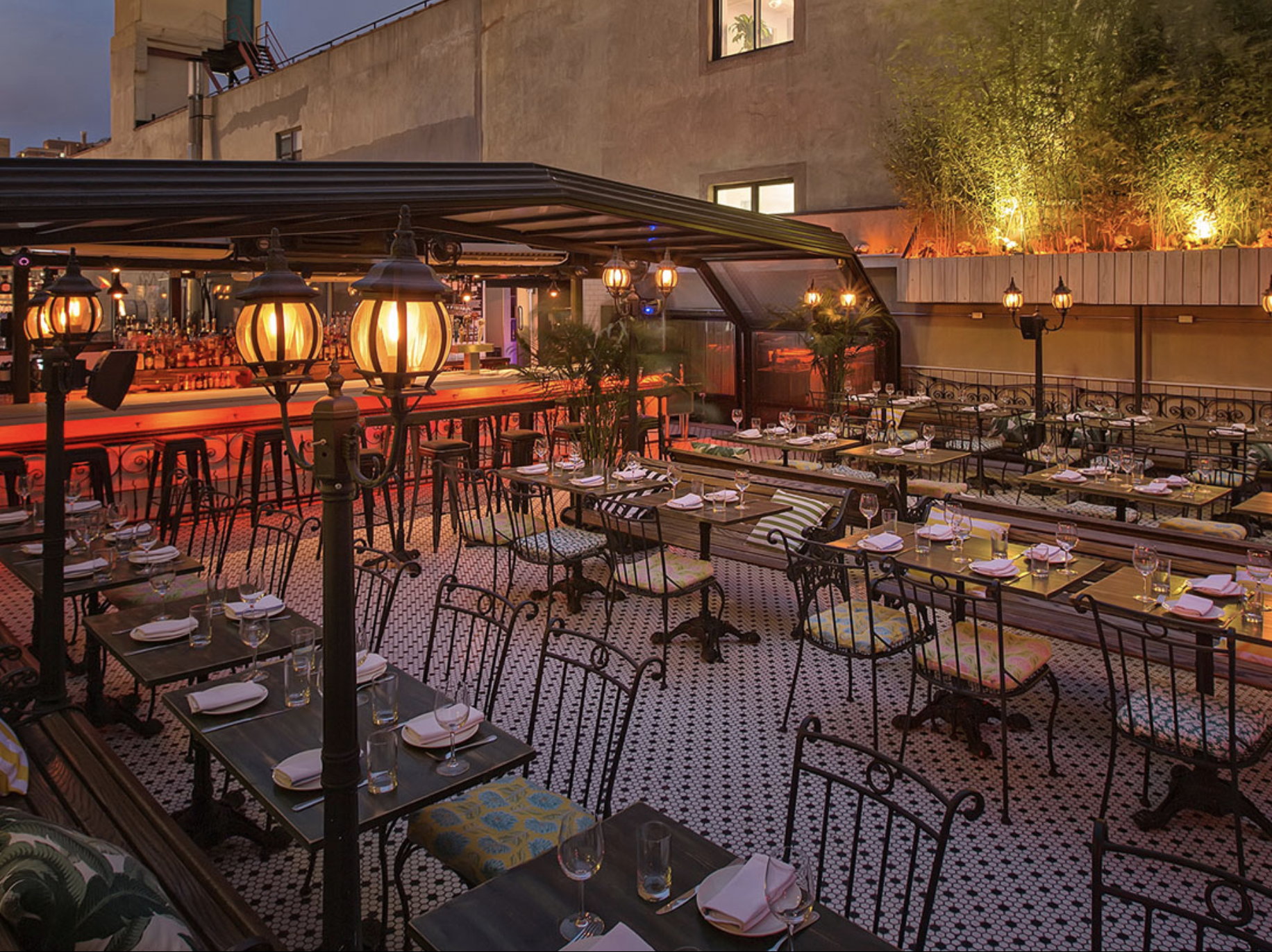 Hotel Chantelle patio | Best Happy Hour in NYC's LES