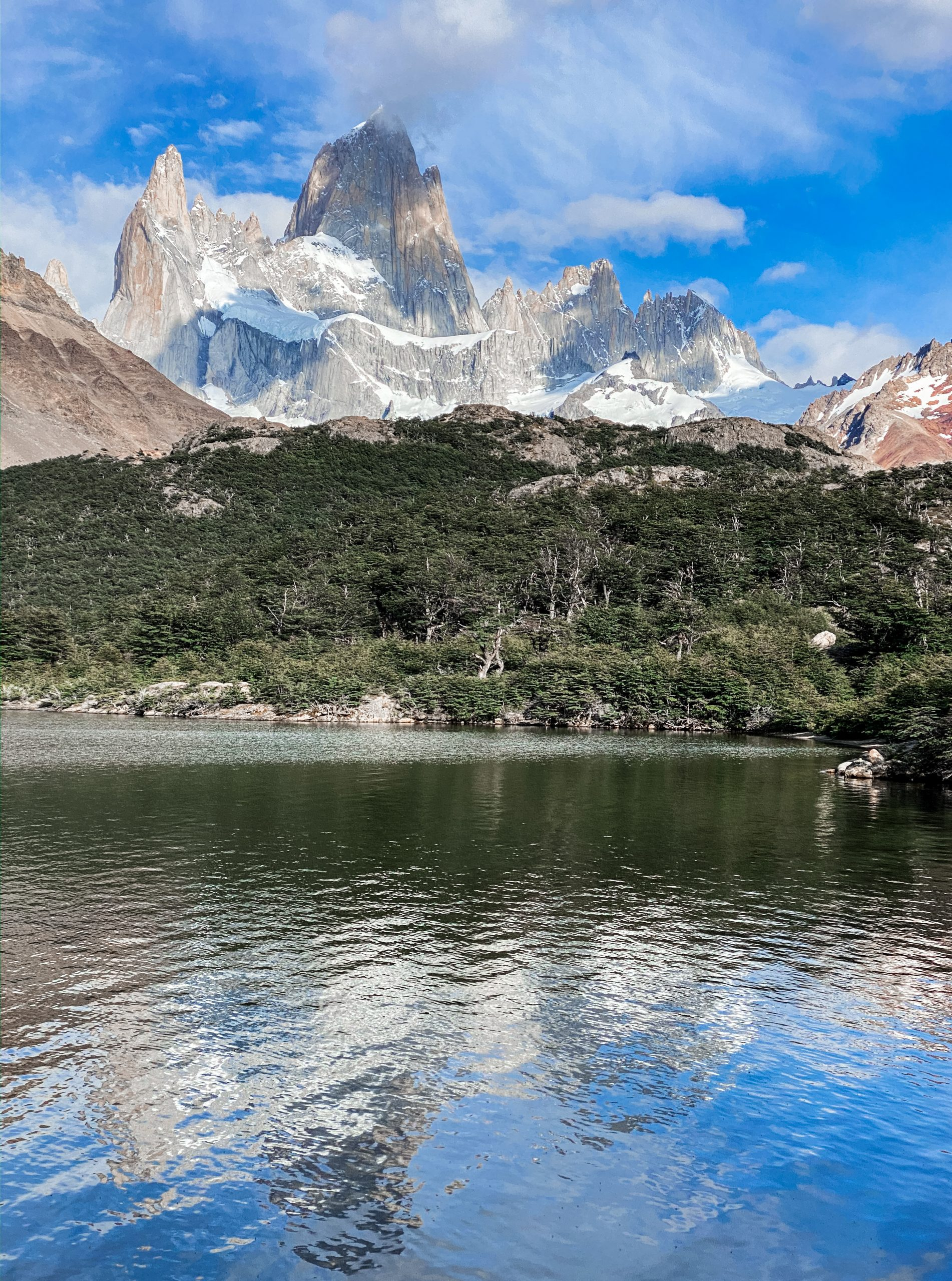 View of Fitz Roy from Laguna Capri